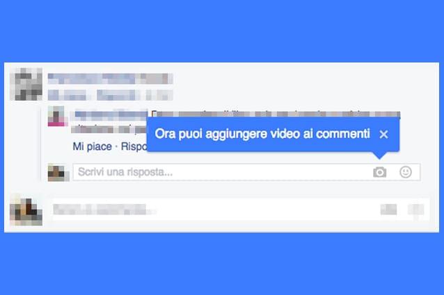 Facebook permette di commentare i post con un video