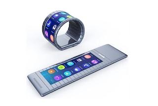 Ecco lo smartphone pieghevole: si avvolge al polso come un bracciale