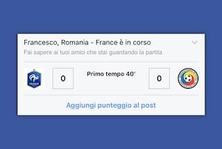 Europei 2016, Facebook mostra i risultati delle partite