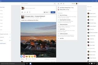 Facebook, disponibile la nuova applicazione per Windows 10