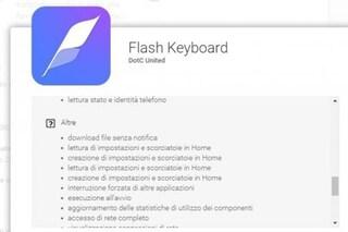 Flash Keyboard, la tastiera per Android che spia gli utenti
