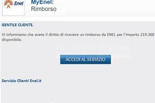 Enel, attenzione alla falsa email di rimborso: è una truffa