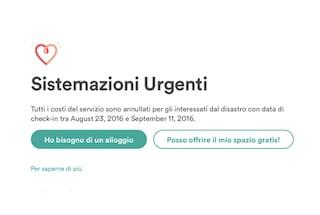 Terremoto Centro Italia, Airbnb attiva uno strumento per offrire ospitalità gratuita