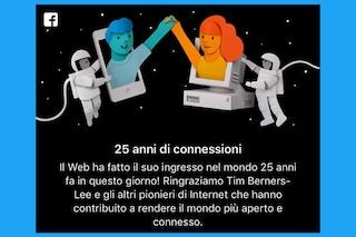 Facebook celebra l'Internaut Day: 25 anni dalla nascita del Web
