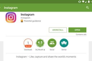 Instagram per Android raggiunge 1 miliardo di download da Google Play Store