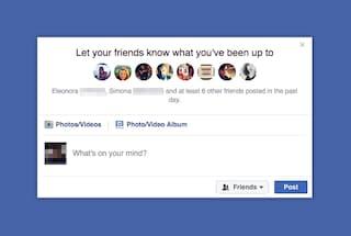 """""""Ieri i tuoi amici hanno pubblicato qualcosa"""": Facebook invita gli utenti ad aggiornare lo stato"""