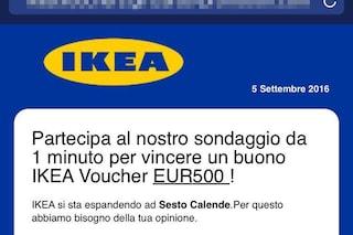 """""""Partecipa al sondaggio e vinci un buono Ikea da 500 euro"""": attenzione alla truffa"""