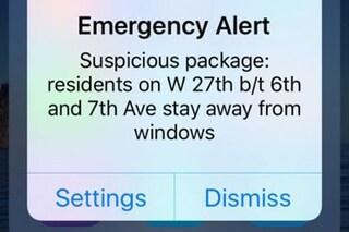 Esplosione a New York, il messaggio inviato dal sistema di allerta della città