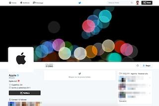 Apple attiva l'account Twitter in vista del keynote di presentazione del nuovo iPhone 7