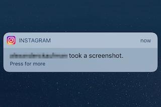 Instagram invia una notifica quando effettuiamo lo screenshot di un messaggio privato