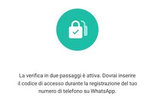 WhatsApp, in arrivo la verifica in due passaggi: ecco come attivare la novità