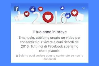 #yearinreview2016, il tuo anno su Facebook: ecco come creare un video riassunto del 2016