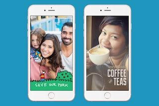 Facebook, in arrivo le cornici personalizzate in stile Snapchat