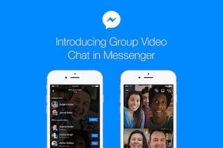 Facebook Messenger introduce le videochiamate di gruppo