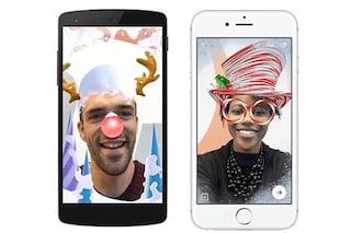 Facebook Messenger, per Natale in arrivo nuovi effetti in stile Snapchat
