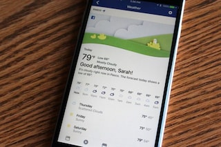Facebook introduce una nuova sezione dedicata alle previsioni meteo