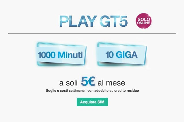 new arrivals 9249f cf9aa Tre PLAY GT5, la nuova offerta con 10 GB e 1000 minuti a 5 ...