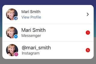 Sull'app di Facebook arriveranno anche le notifiche di Messenger e Instagram