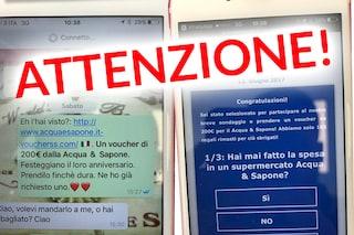 """""""200 euro di buono sconto Acqua & Sapone"""": attenzione alla truffa su WhatsApp"""