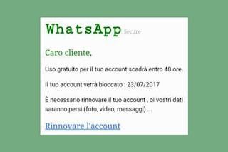 WhatsApp a pagamento, attenzione al nuovo messaggio truffa