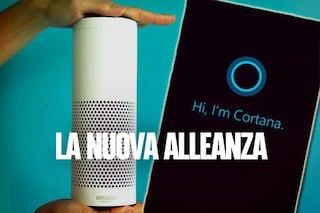 Amazon e Microsoft rendono compatibili gli assistenti vocali Alexa e Cortana