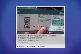 Biglietti gratis Alitalia, attenzione alla nuova truffa su Facebook