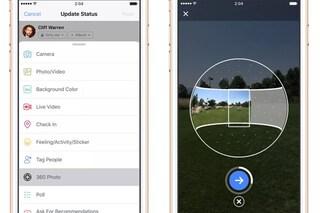 """Facebook, l'app per smartphone si aggiorna e introduce """"Foto a 360 gradi"""": ecco come funziona"""