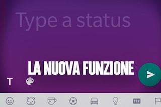 WhatsApp introduce gli sfondi colorati per lo Stato: la nuova funzione simile a Facebook