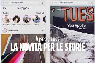 Instagram, da oggi le Storie si possono guardare anche da web: ecco come funziona la novità
