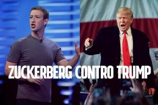 """Mark Zuckerberg replica a Donald Trump: """"Facebook ospita le idee di tutti"""""""