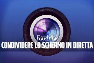 Facebook permette di  condividere lo schermo in diretta: ecco come funziona la novità