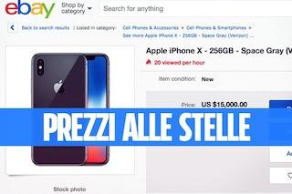 Il nuovo iPhone X in vendita su eBay a prezzi fino a 15.000 dollari
