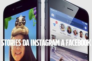 Instagram Stories su Facebook è ufficiale: in arrivo il nuovo aggiornamento