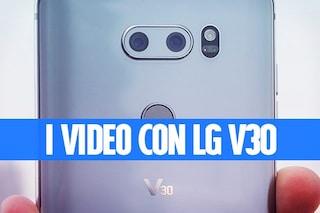 Fotocamera LG V30: come funzionano il CineVideo e il Point Zoom
