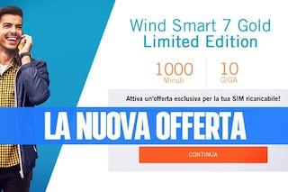 Wind Smart 7 Gold Limited Edition, la nuova offerta con 1000 minuti e 10GB a 7 euro