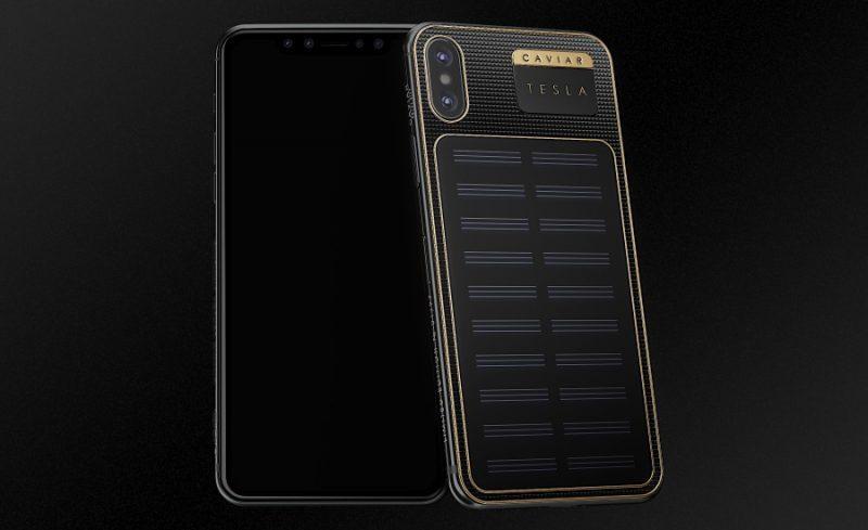 iPhone X Caviar Tesla