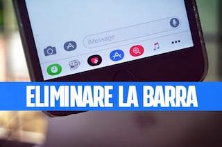 Trucchi iPhone: rimuovere la barra delle app in Messaggi in iPhone e iPad
