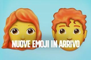 Emoji, nel 2018 arrivano nuove faccine con i capelli rossi