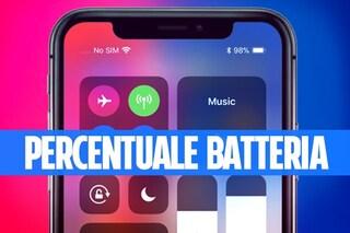 Trucchi iPhone X: come vedere la percentuale della batteria