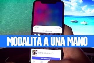 Reachability iPhone X: come funziona e come attivarla per utilizzare lo smartphone con una mano