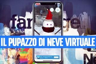 Con questa app natalizia puoi creare il tuo pupazzo di neve con la realtà aumentata