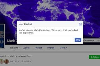 Ora puoi bloccare Mark Zuckerberg su Facebook