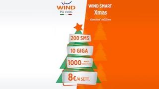 Smart Xmas Limited Edition: l'offerta di Natale di Wind con 1000 minuti e 10 GB a 8 euro