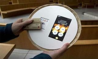 Il cestino per le offerte tecnologico: in chiesa si dona con la carta di credito