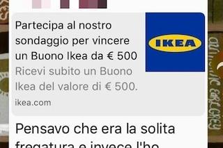 """""""Hai vinto un buono IKEA da 500 euro"""": attenzione alla truffa"""