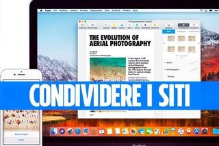 Condividere (velocemente) un sito web tra Mac o PC con lo smartphone