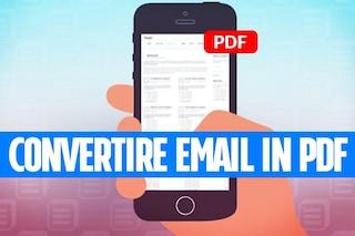 Convertire una mail in PDF con iPhone e iPad