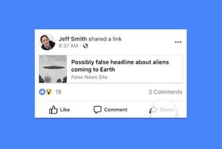 """Facebook vuole """"rimpicciolire"""" le fake news"""