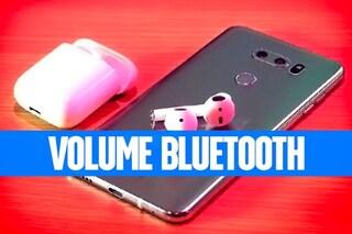 Aumentare il volume degli auricolari bluetooth in Android
