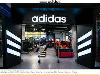Truffa ai danni di Adidas su WhatsApp, se leggete questo messaggio non cliccate